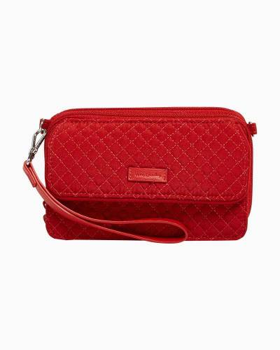 Iconic RFID All in One Crossbody in Microfiber Cardinal Red