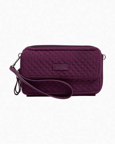 Iconic RFID All in One Crossbody in Microfiber Gloxinia Purple