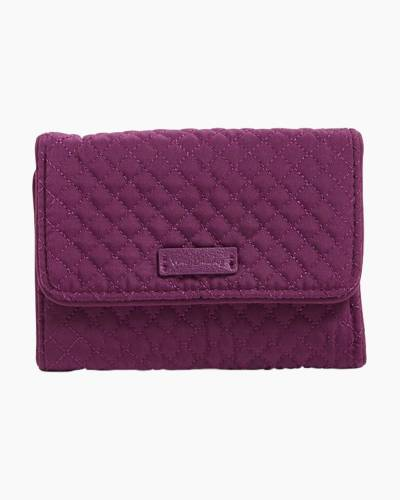Iconic RFID Riley Compact Wallet in Microfiber Gloxinia Purple