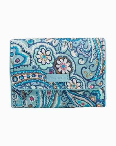Iconic RFID Riley Compact Wallet in Daisy Dot Paisley