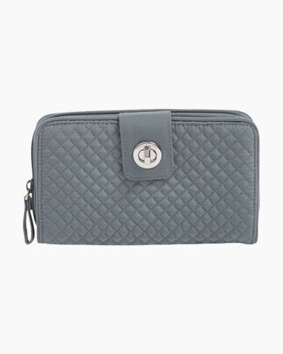 Iconic RFID Turnlock Wallet in Charcoal