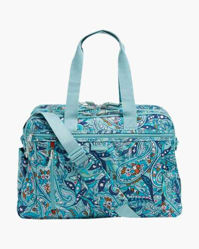 Lighten Up Weekender Travel Bag in Daisy Paisley