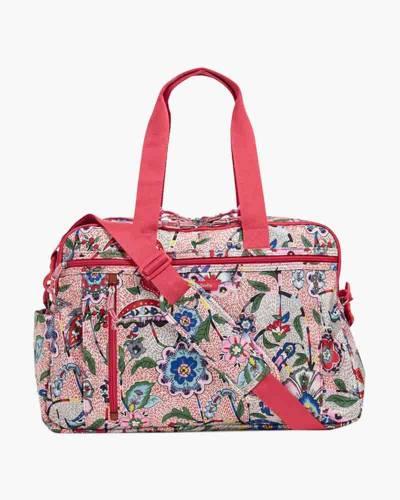 Lighten Up Weekender Travel Bag in Stitched Garden
