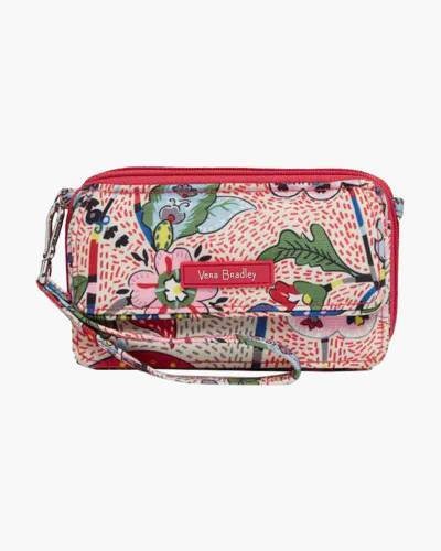 Lighten Up RFID All in One Crossbody in Stitched Garden