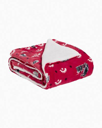 Cozy Life Throw Blanket in Night Owls Red