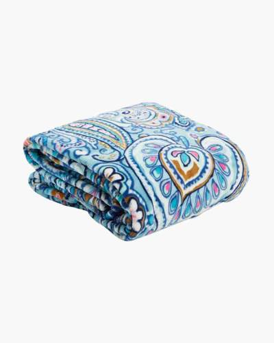 Plush Throw Blanket in Daisy Dot Paisley