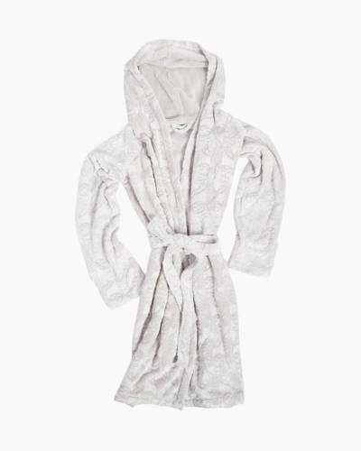 Fleece Robe in Night Owls Gray