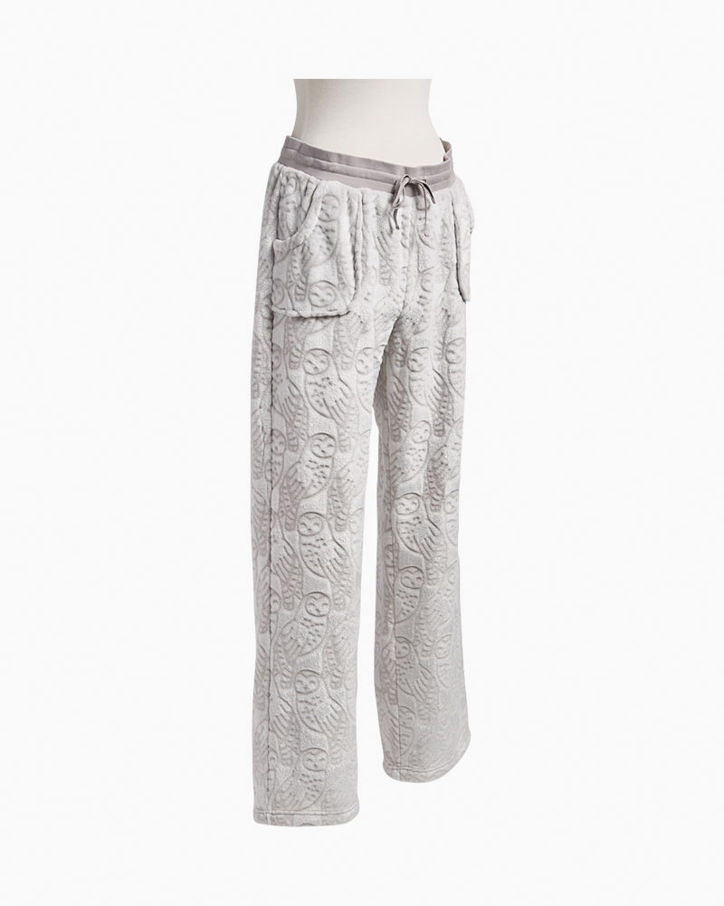 e45f615e71 Vera Bradley Sheared Fleece Pajama Pants in Night Owls Gray