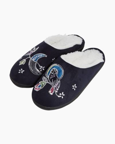 Embellished Slippers in Night Sky