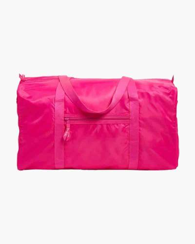 Packable Duffel Travel Bag in Peony Pink
