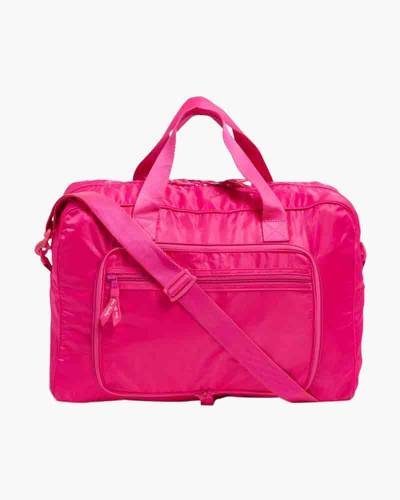 Packable Weekender Travel Bag in Peony Pink