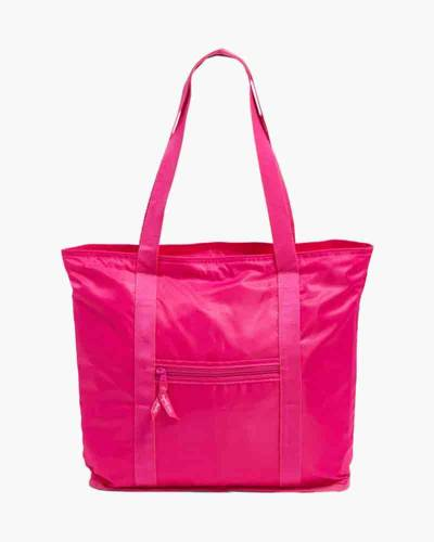 Packable Tote in Peony Pink