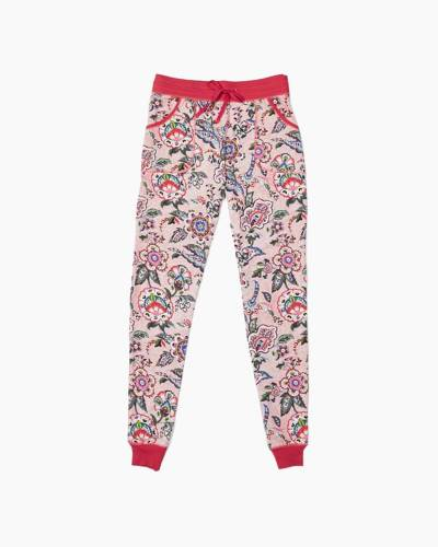 Pajama Pants in Stitched Flowers
