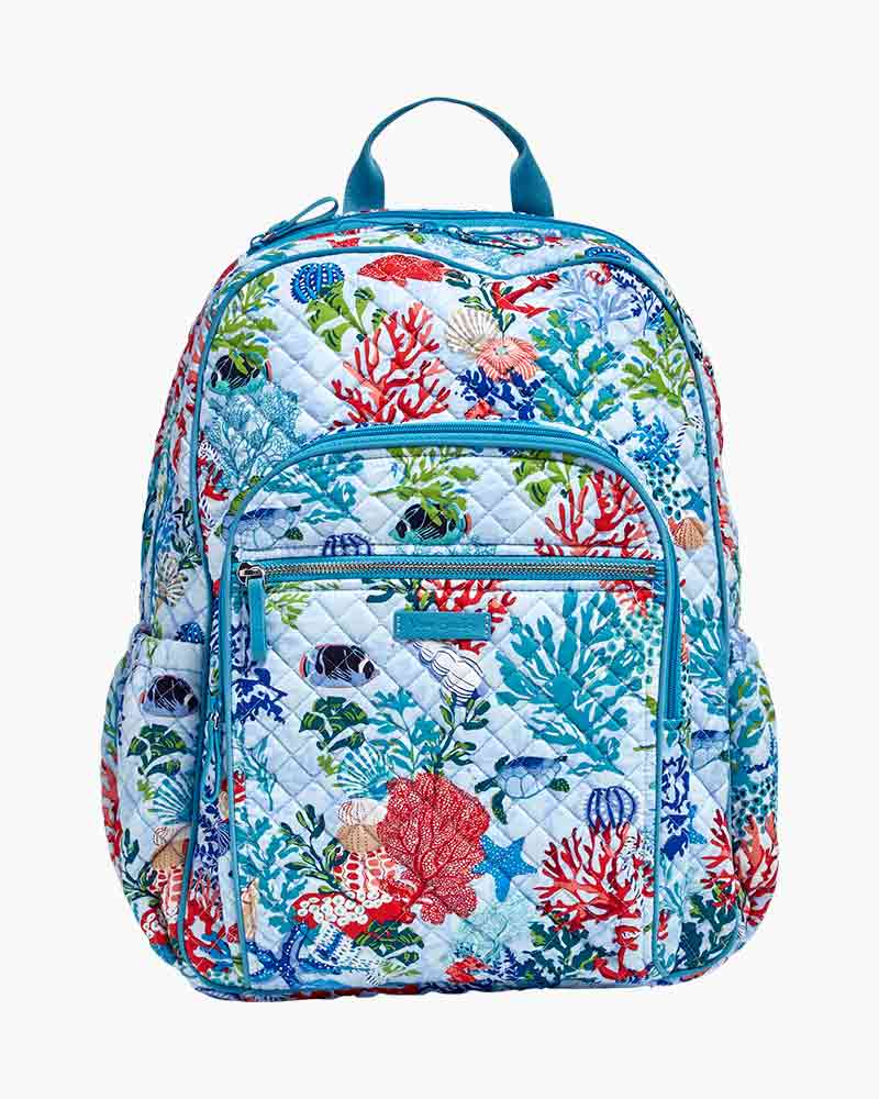 Vera Bradley Iconic Campus Backpack in Vera Signature Shore Thing ... 966633a1dbcbe