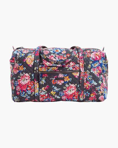 Vera Bradley Iconic Large Travel Duffel in Pretty Posies 395edfec37840