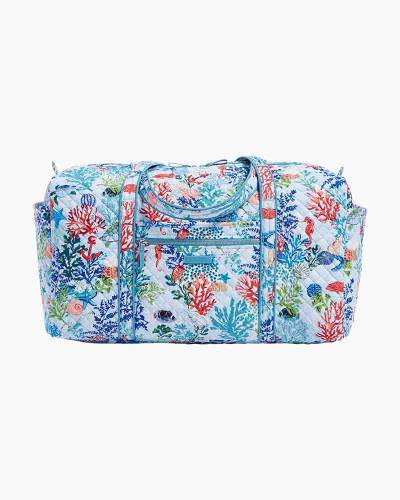a798917a286f Vera Bradley Iconic Large Travel Duffel in Vera Signature Shore Thing