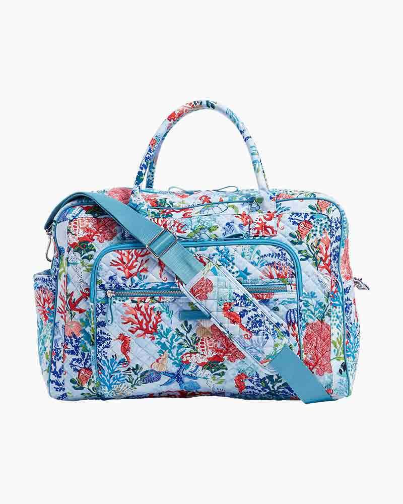 Vera Bradley Iconic Weekender Travel Bag in Vera Signature Shore Thing  cdeb2190ed35e