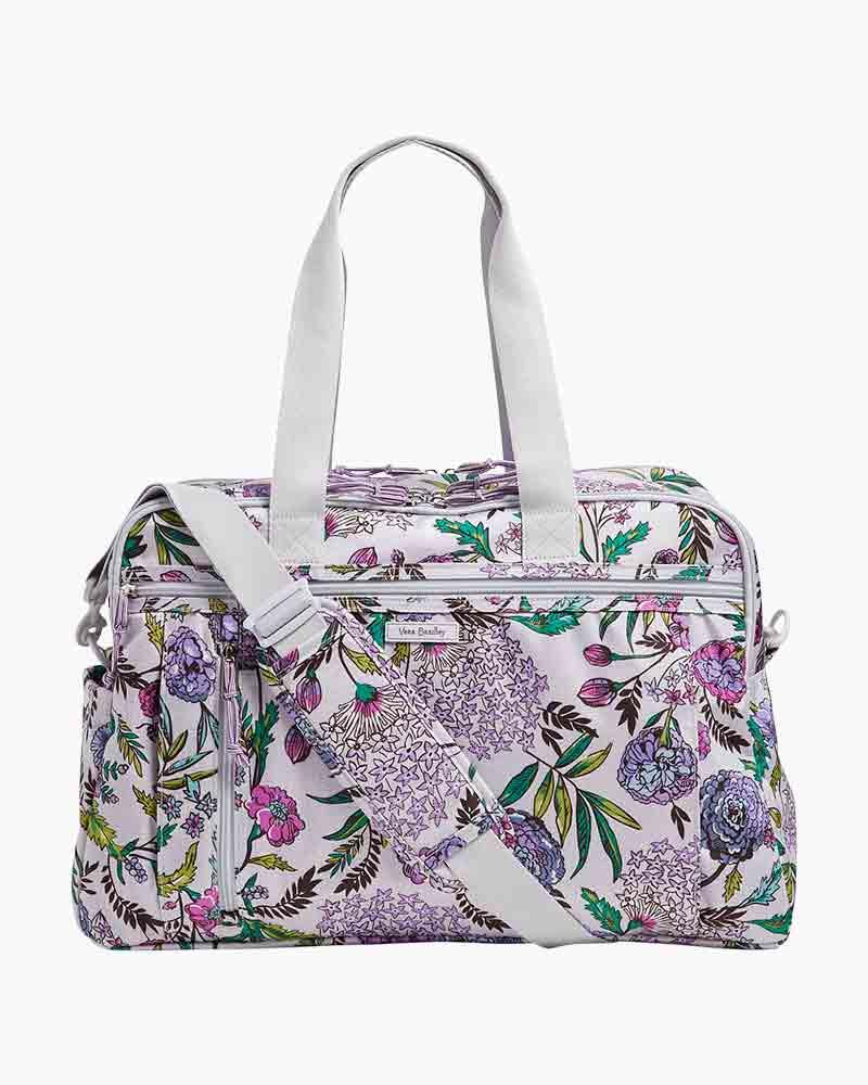 2c3e7c395 Vera Bradley Lighten Up Weekender Travel Bag in Lavender Botanical | The  Paper Store