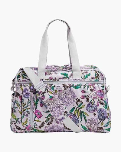 Lighten Up Weekender Travel Bag in Lavender Botanical