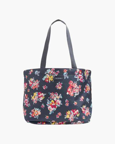 Drawstring Family Tote in Tossed Posies