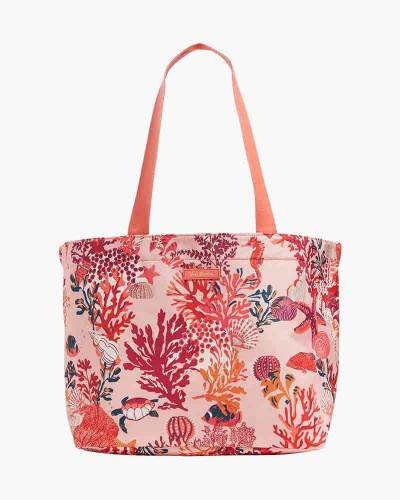 Drawstring Family Tote in Shore Thing Coral