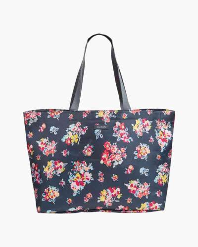 Lighten Up Large Family Tote in Tossed Posies
