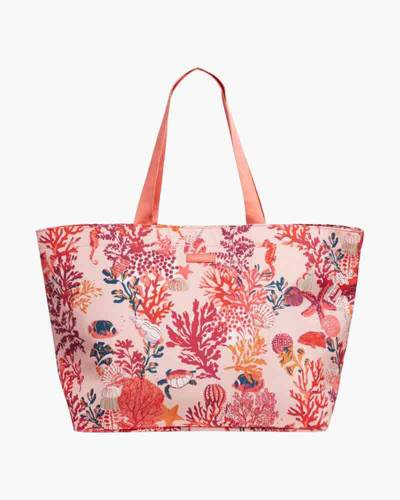 Lighten Up Large Family Tote in Shore Thing Coral