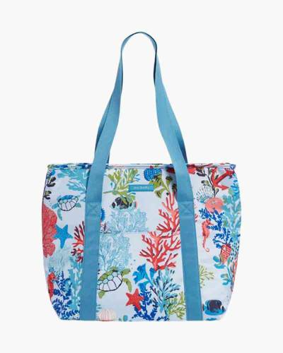 Lighten Up Cooler Tote in Shore Thing