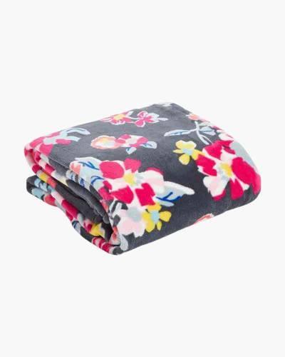 Plush Throw Blanket in Tossed Posies
