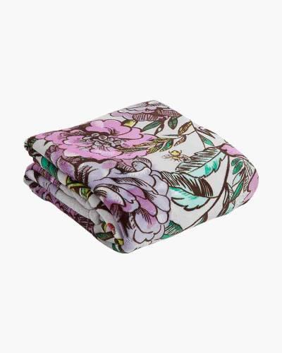 Plush Throw Blanket in Lavender Meadow