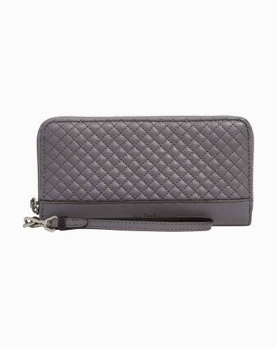 Carryall RFID Accordion Wristlet in Storm Cloud