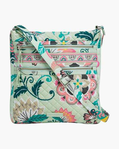 Iconic Triple Zip Hipster in Mint Flowers