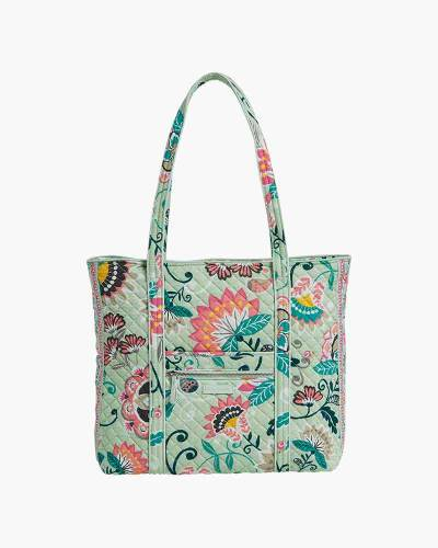 Iconic Vera Tote in Mint Flowers