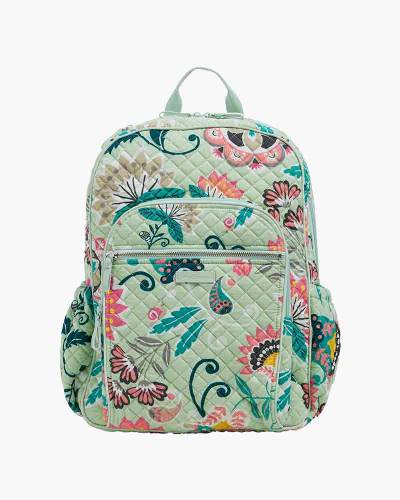 Iconic Campus Backpack in Mint Flowers