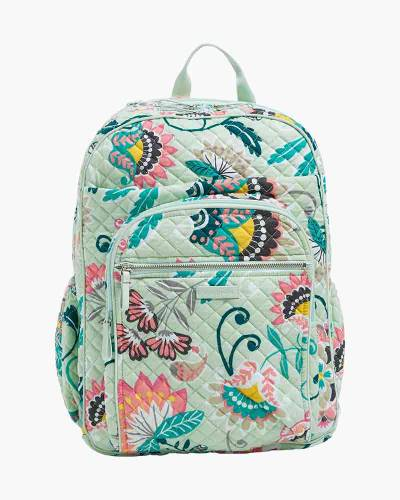 Iconic XL Campus Backpack in Mint Flowers