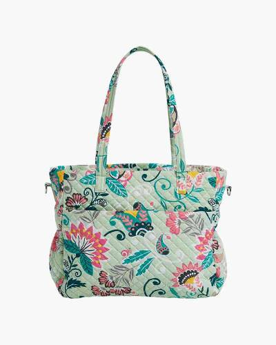 Iconic Ultimate Diaper Bag in Mint Flowers