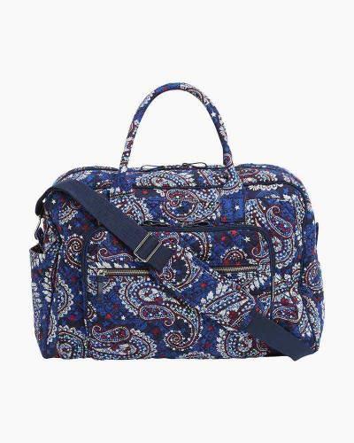 Iconic Weekender Travel Bag in Fireworks Paisley