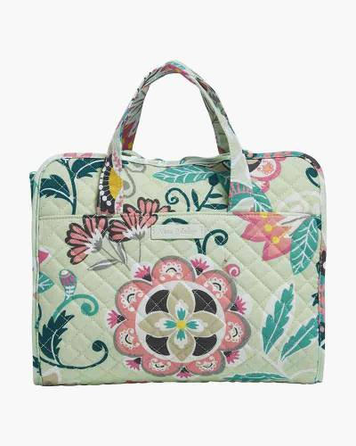 Iconic Hanging Travel Organizer in Mint Flowers