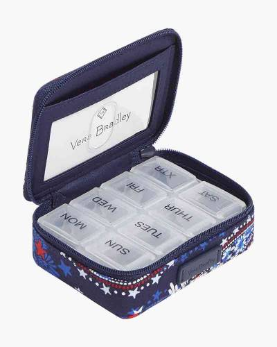 Iconic Travel Pill Case in Fireworks Paisley