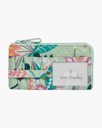 Iconic RFID Ultimate Card Case in Mint Flowers