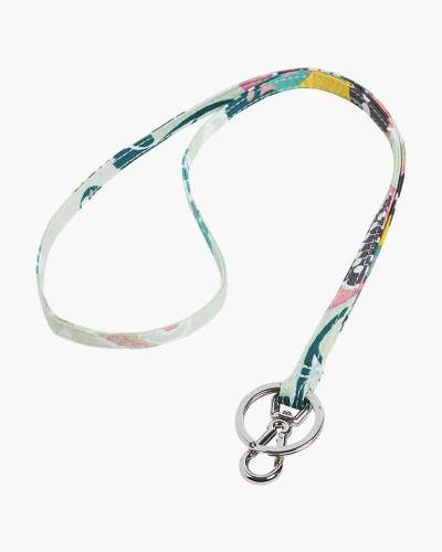 Iconic Lanyard in Mint Flowers