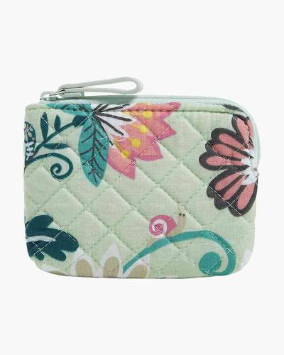 Iconic Coin Purse in Mint Flowers