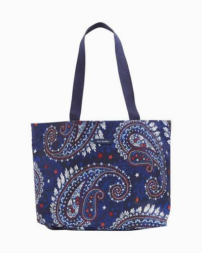 Drawstring Family Tote in Fireworks Paisley