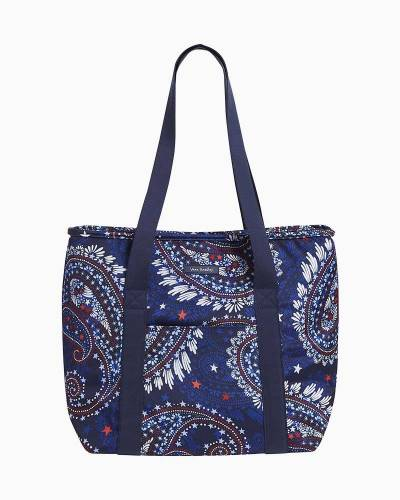 Lighten Up Cooler Tote in Fireworks Paisley