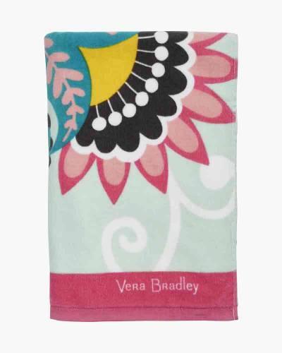Beach Towel in Mint Flowers