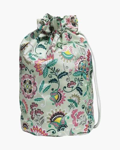 Cinch Laundry Bag in Mint Flowers