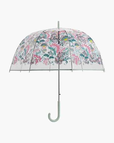 Auto Open Bubble Umbrella in Mint Flowers