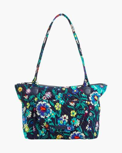 Carson East West Tote in Moonlight Garden
