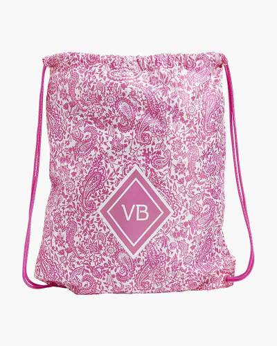 Drawstring Backpack in Paisley Pink