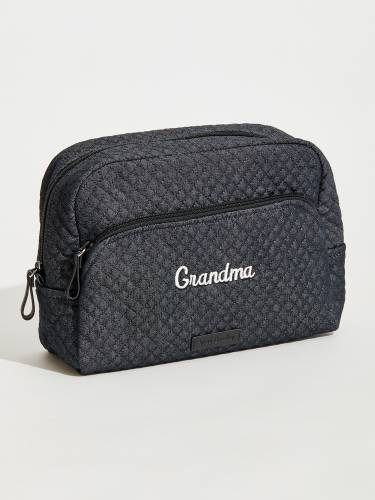 Iconic Large Cosmetic in Denim Navy for Grandma